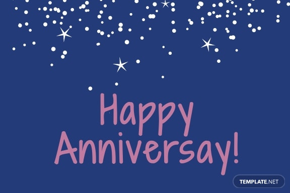 Anniversary Greeting card template