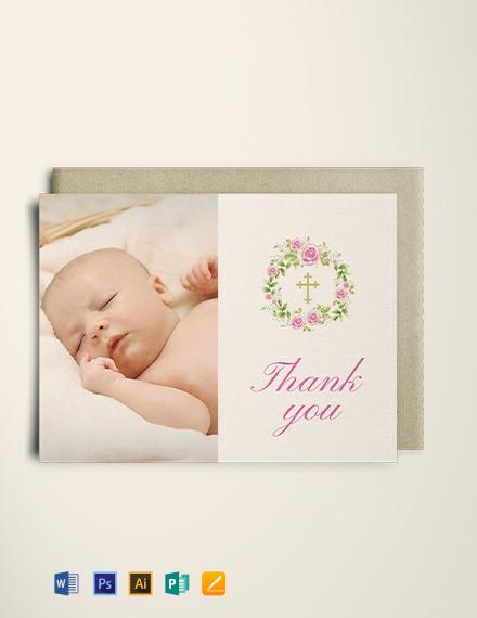 Baptism Thank You Card