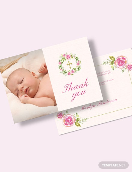 Baptism Thank You Card Download