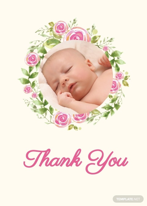 Baptism Thank You Card Template