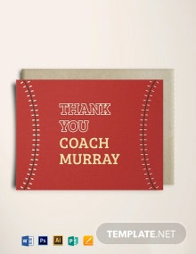 Baseball Thank You Card Template