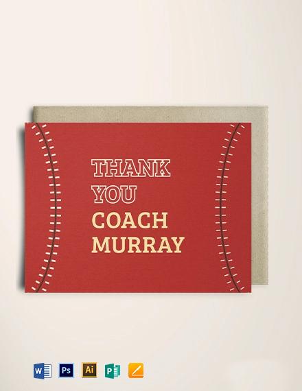 Baseball Thank You Card Template