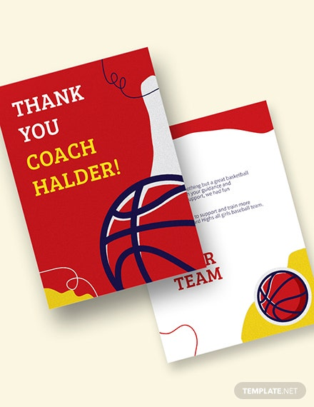 Basketball Thank You Card Download