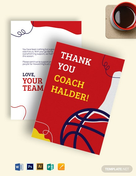 Basketball Thank You Card Template