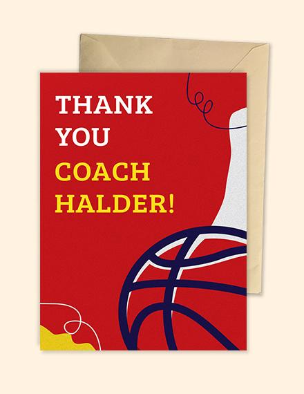 Basketball Thank You Card Template