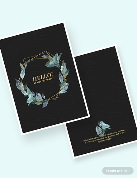 Blank Greeting Card Download