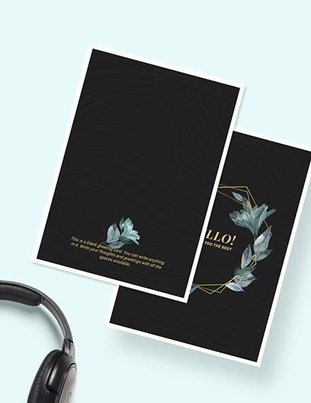 Sample Blank Greeting Card