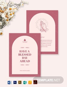Church Greeting Card Template