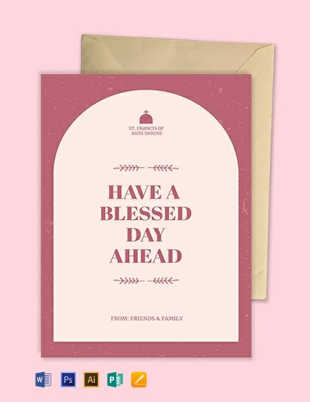 Church Greeting Card Template