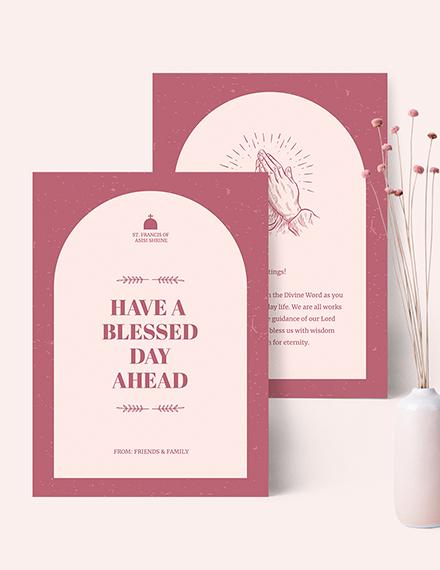Sample Church Greeting Card