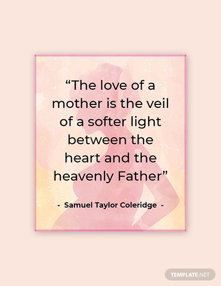 Free Mother's Day Quote Template