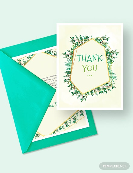 Christening Thank You Card Download
