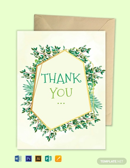 christening thank you card template