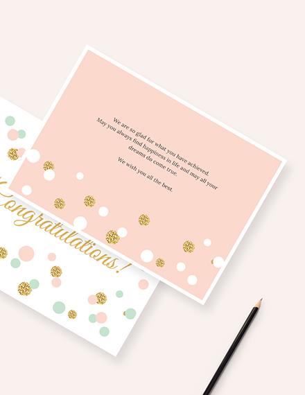 Sample Congratulations Card