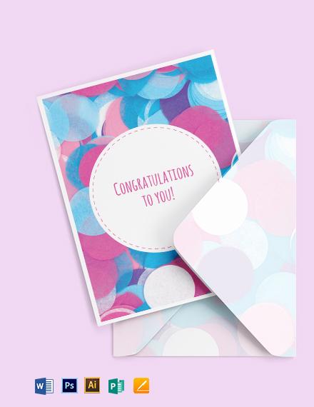 Congratulations Greeting Card Template