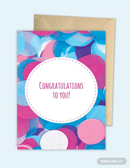 Congratulations greeting card template