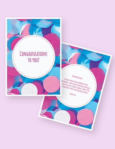 Sample Congratulations Greeting Card