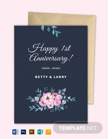 Floral Greeting Card Template