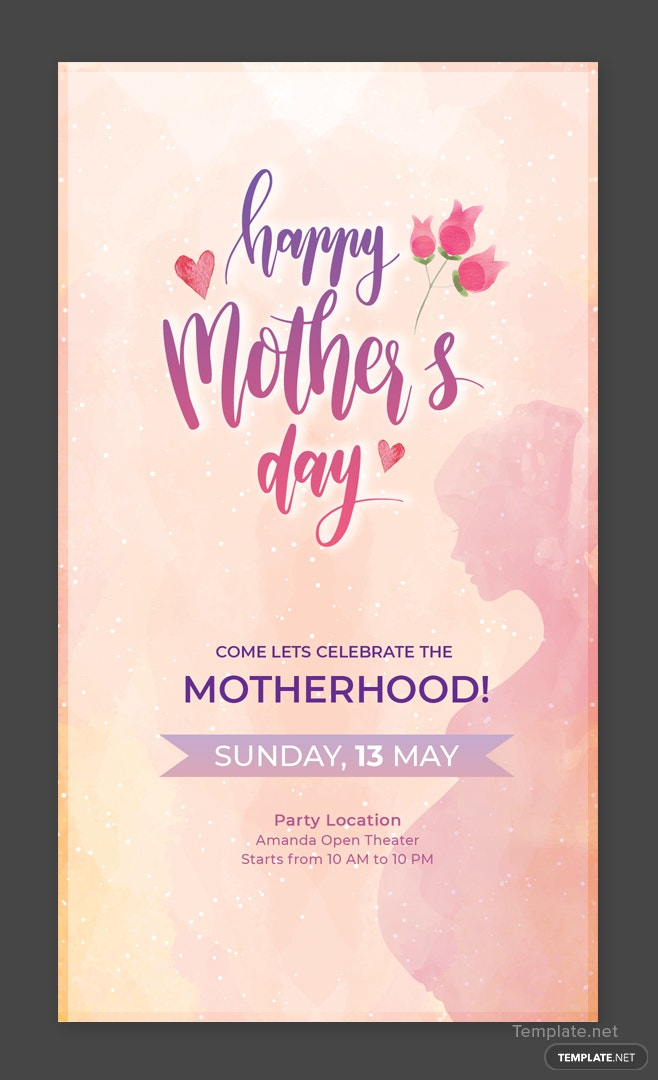 free mothers snapchat geofilter template