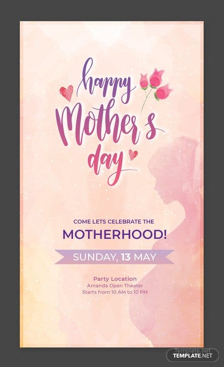 Free Mother's Day Snapchat Geofilter Template