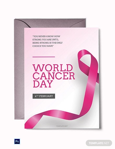 Free World Cancer Day Greeting card Template