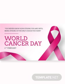 Free World Cancer Day Linkedin Post Template