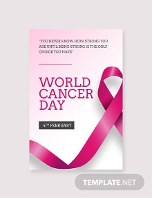Free World Cancer Day Tumblr Post Template