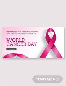Free World Cancer Day Twitter Post Template