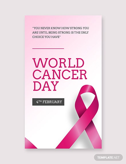 Free World Cancer Day whatsapp image Template