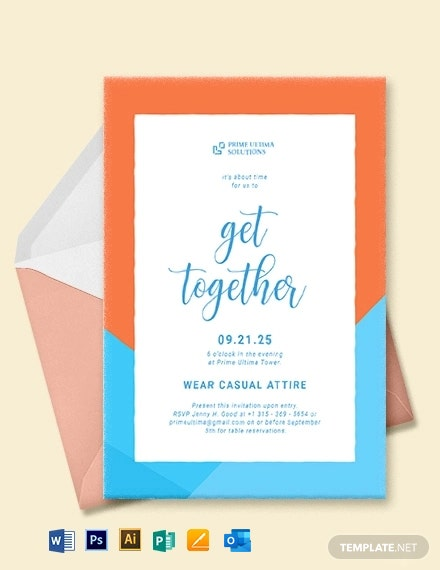 Business Get Together Invitation Template