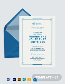 Business Workshop Invitation Template