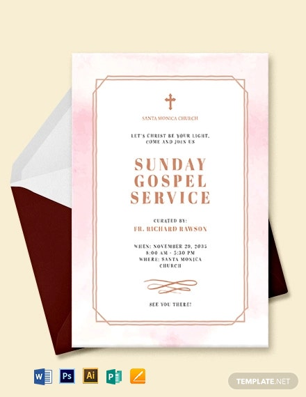 Church Service Invitation Template