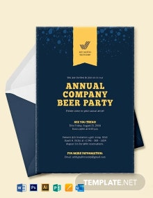 Company Event Invitation Template
