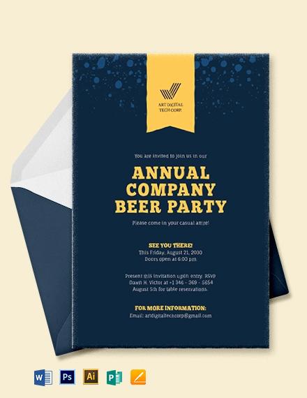 Company Event Invitation Template