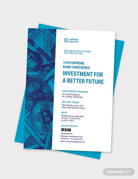 Sample investment seminar invitation