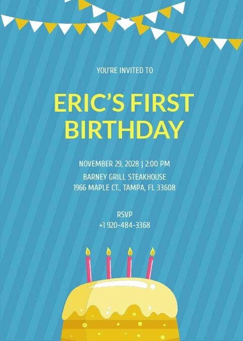 Kids 1st Birthday Invitation Template.jpe