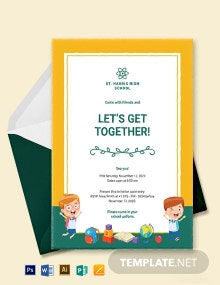 School Get Together Invitation Template