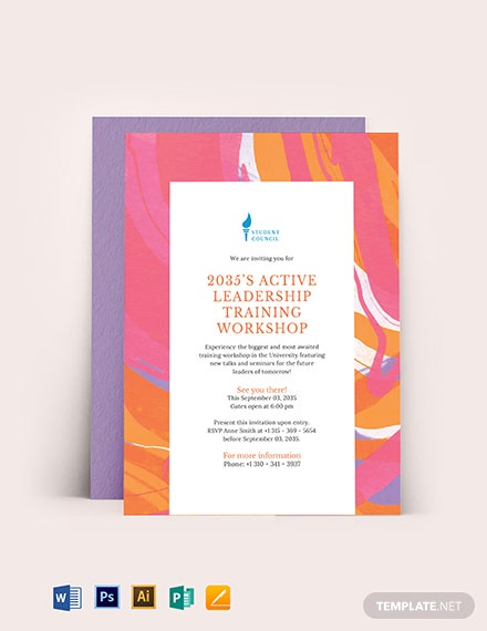 Training Workshop Invitation Template