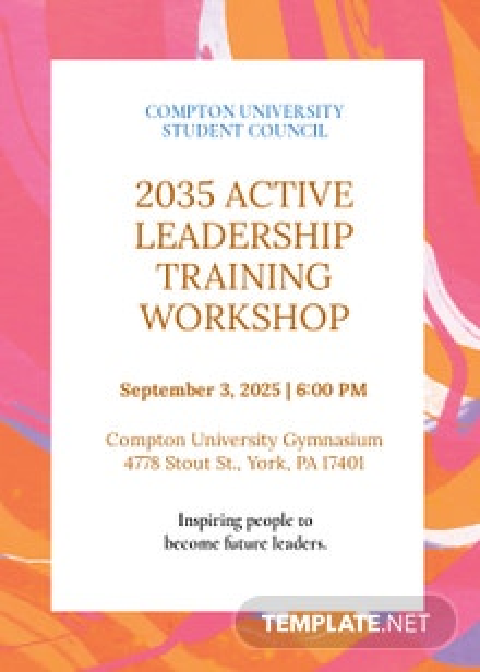 Training Workshop Invitation Template
