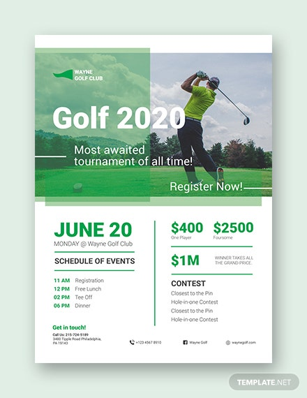28+ Golf Flyers Templates - Word, PSD, AI, EPS Vector Format