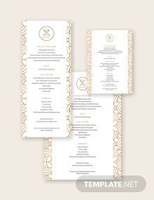 Restaurant Buffet Menu Template