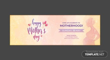Free Mother's Day Twitter Header Cover Template