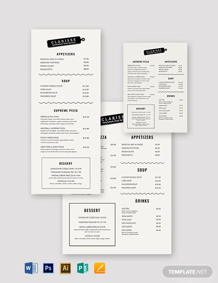 Elegant Event Menu Template