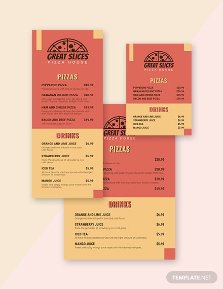 Retro Table Menu Template