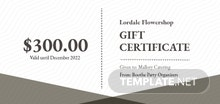 Elegant Business Gift Certificate Template