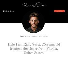 Resume and Portfolio Website Template