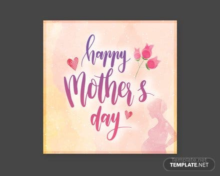 Free Mother's Day Twitter Profile Photo Template