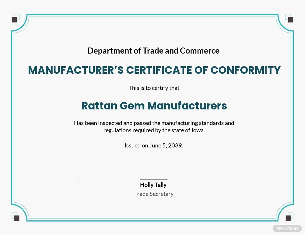 Manufacturer's Certificate of Conformance Template.jpe