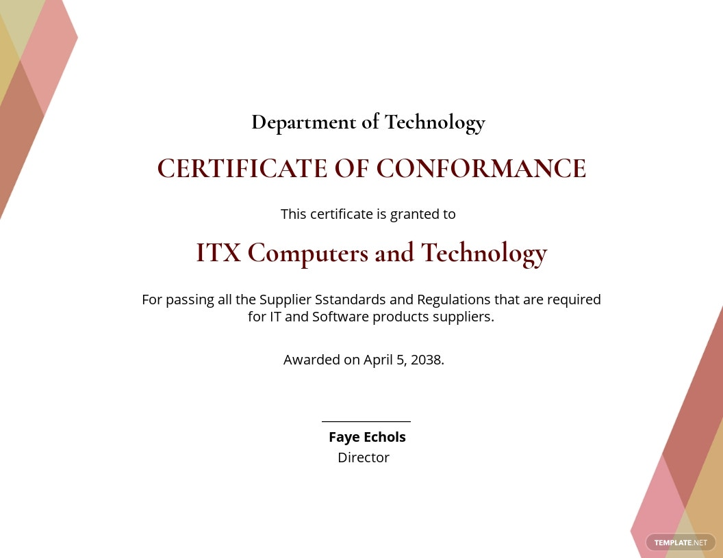 Supplier Certificate of Conformance Template.jpe