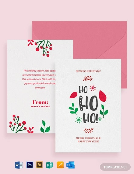 Holiday Greeting Card Template